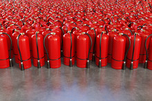 A Lot Of Fire Extinguishers On...
