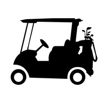 Caddy Golf Cart Silhouette