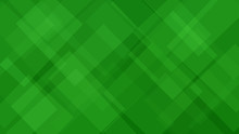 Abstract Background Of Translucent Squares Or Rhombuses In Green Colors