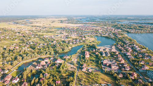 Poster Texas Stock aerial image of a residential neighborhood