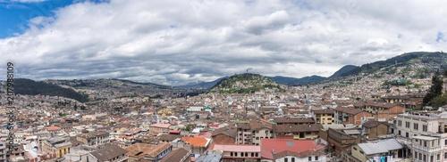Poster Zuid-Amerika land Panorama sur Quito et El Panecillo, Équateur