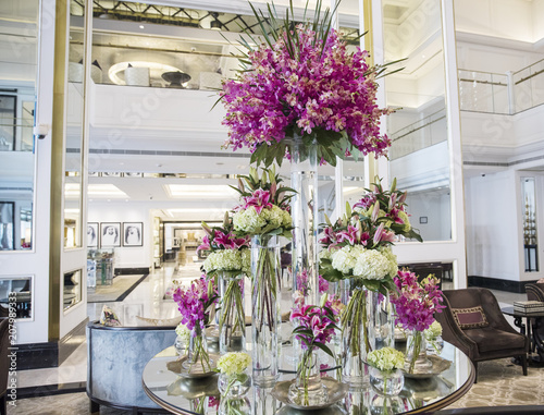 Floral Arrangement In Hotel Lobby Buy This Stock Photo And Explore Similar Images At Adobe Stock Adobe Stock