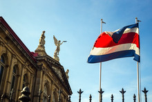 The Flag Of Costa Rica Waving ...
