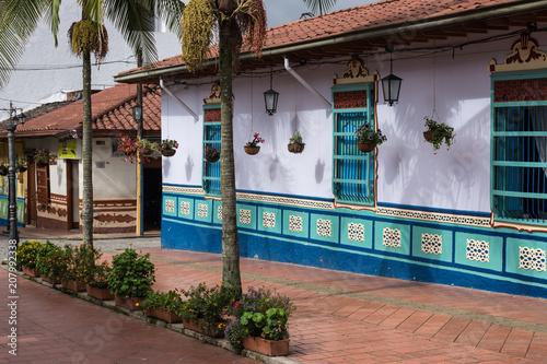 Poster Zuid-Amerika land Rue de Guatapé, Antioquia, Colombie