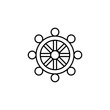 buddhism outline icon. Element of religion sign for mobile concept and web apps. Thin line buddhism outline icon can be used for web and mobile