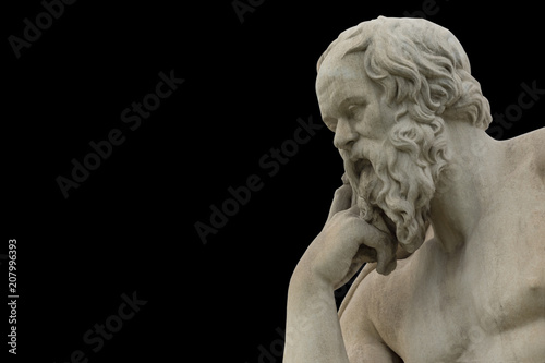 Canvas Prints Historic monument classic statue of Socrates