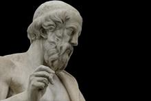 Classic Statues Plato Close Up