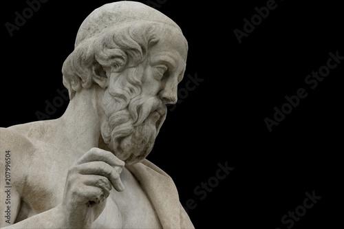 Photo sur Aluminium Commemoratif classic statues Plato close up