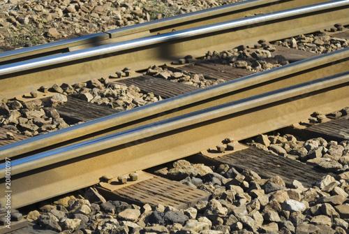 In de dag Spoorlijn 線路 素材