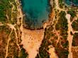 Aerial view of beach.