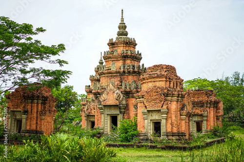 Fotografie, Obraz  Old Thailand vintage / ancient building create by red brick.