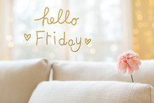 Hello Friday Message With A Fl...