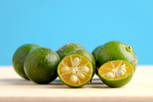 Calamansi On Wooden Table And ...