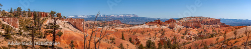 Canvas Prints Natural Park Bryce Canyon National Park, Utah, USA. Here is the largest collection of hoodoos in the world. Hoodoo is a tall, thin spire of rock that protrudes from the bottom of an arid drainage basin or badland.