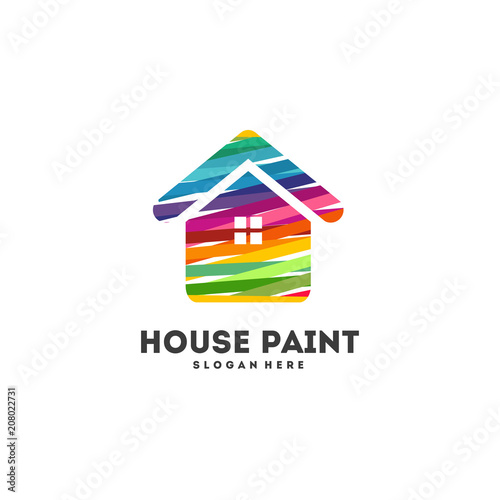 House Painting Logo Designs Concept Vector Abstract Home Decoration
