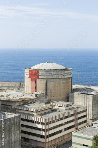 Uncompleted nuclear power plant