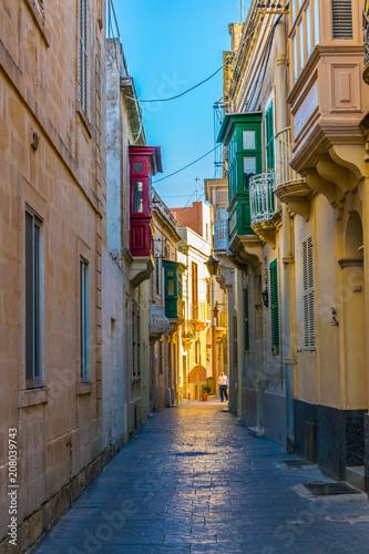 Foto op Plexiglas Havana View of a narrow street in the old town of Mdina, Malta