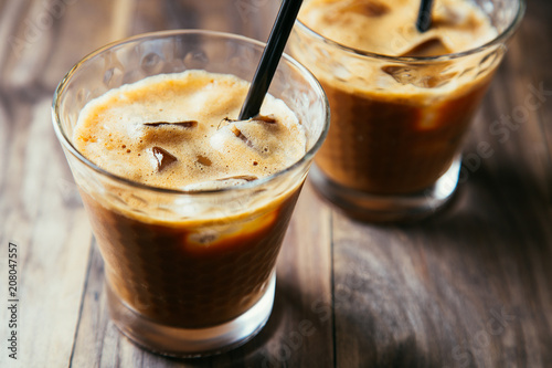 Glasses of iced coffee latte - 208047557