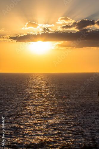 Keuken foto achterwand Zee zonsondergang Sunset over sea