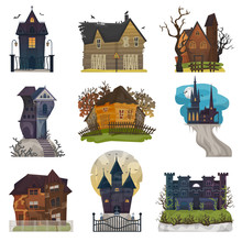 Spooky House Vector Haunted Ca...