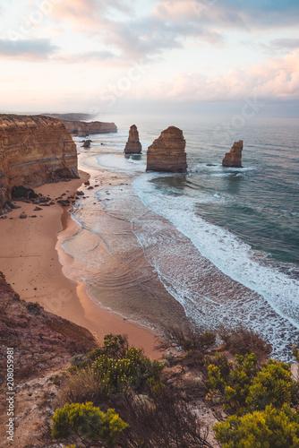 Poster Oceanië The Twelve Apostles along the Great Ocean Road, Victoria, Australia