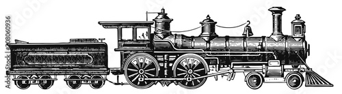 Fotografía steam locomotive railway #vector #isolated - Lokomotive Dampflok