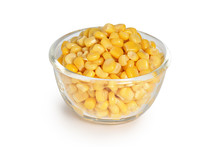 Sweet Corn In Glass Bowl Isola...