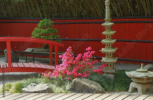 Poster Zen pierres a sable Jardin japonais