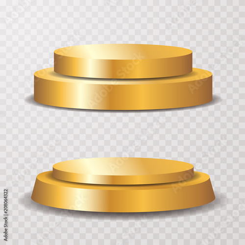 Photo  golden pedestals