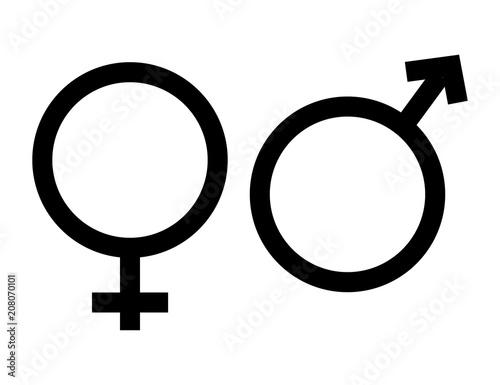 Gender Icon In Trendy Flat Style On White Background Gender Symbol