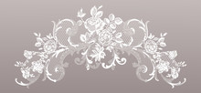 Lace Flowers Decoration Element