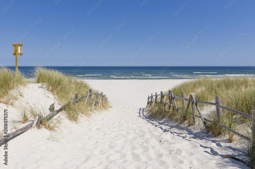 Fototapeta Wejście na plażę w Białogórze