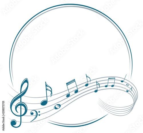 Obrazy muzyczne  frame-with-music-notes