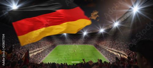 Plakat Mecz piłki nożnej na stadionie