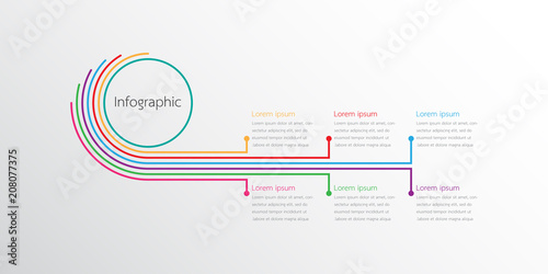 Photo  Vector infographic templates used for detailed reports