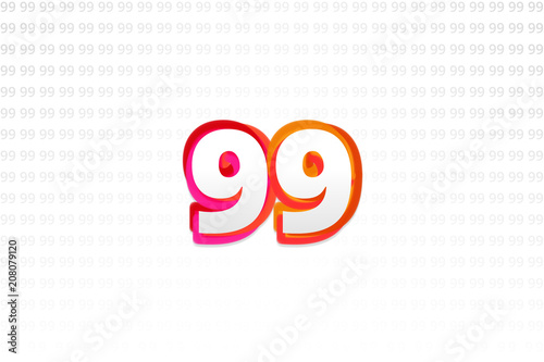 Number 99 on Number 99 background Poster Mural XXL