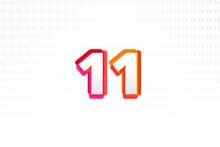 Number 11 On Number 11 Backgro...