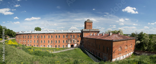 Foto  Panorama with a view of the barracks building of the Modlin Fortress - Poland -