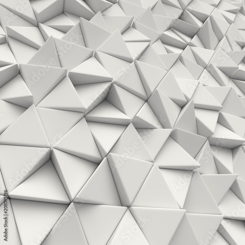 3d White abstract triangles backdrop