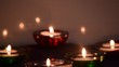 Beautifull candles changing light. Scanted candle. Celebration. Romance.