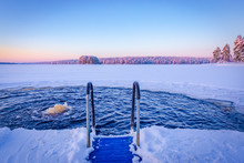Ice Swimming Place From Kuhmo,...