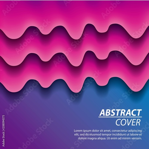 Obraz na plátně  abstract covers fluids purple melted splash degrade background vector illustrati
