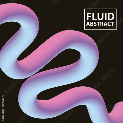 Fotografie, Obraz  abstract covers fluids degrade wave neon vector illustration