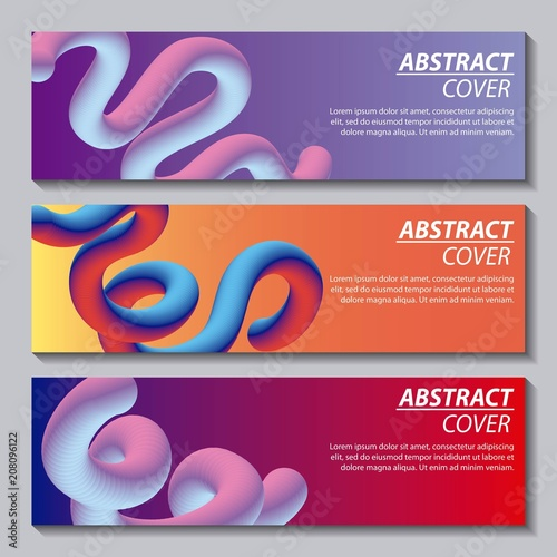 Fotografie, Obraz  abstract covers fluids banners many waves degrade neon color vector illustration