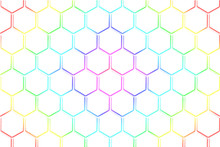 Abstract White Honeycomb And H...