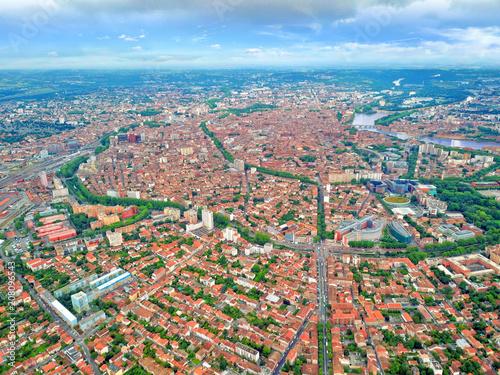 Toulouse vue d'en haut Wallpaper Mural