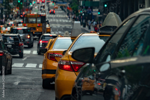 Deurstickers New York TAXI Taxi traffic new york city