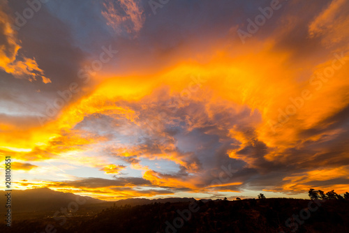 Foto op Canvas Hemel Colorado sunset, Colorado Springs, USA
