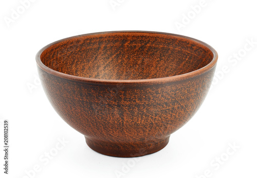 Ceramic Bowls On White Background Decorative Handmade Buy