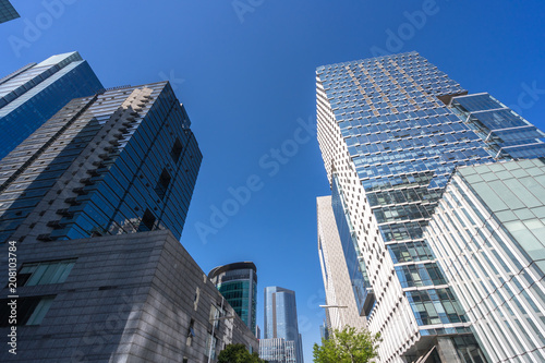In de dag Milan up view of modern office building in shanghai china